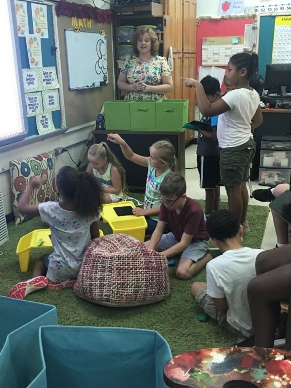 Kimberly Kirby / Flexible Seating during Eureka Math!